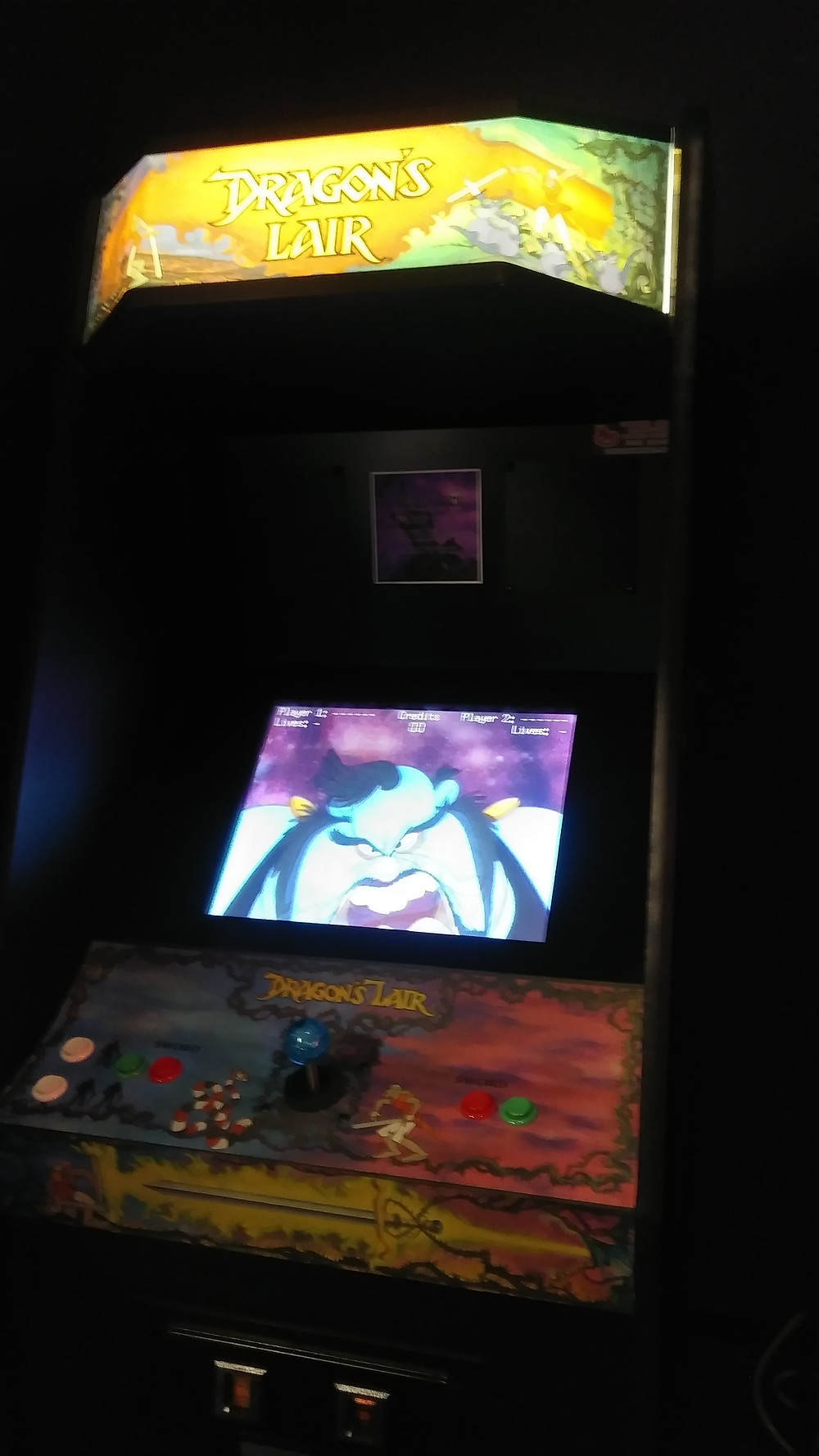 Dragon's Lair and Space Ace Arcade Machine
