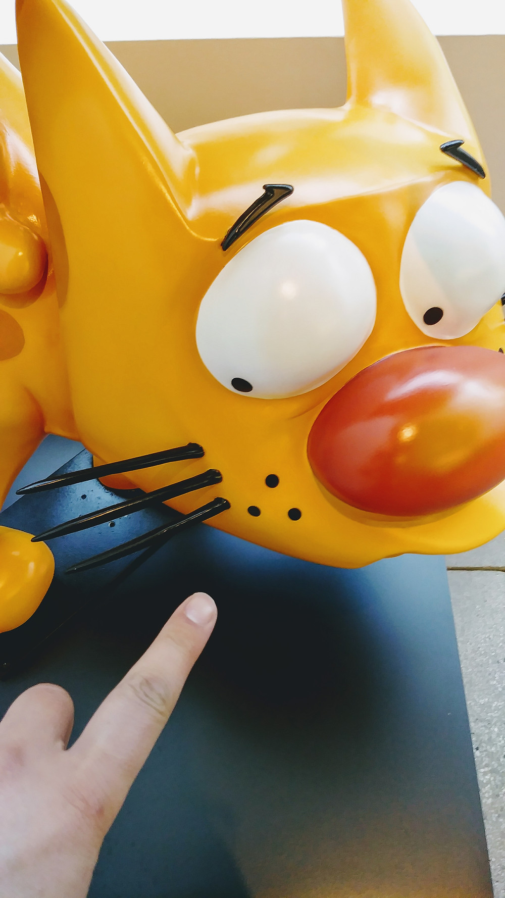 Sculpture of Catdog from Nickelodeon