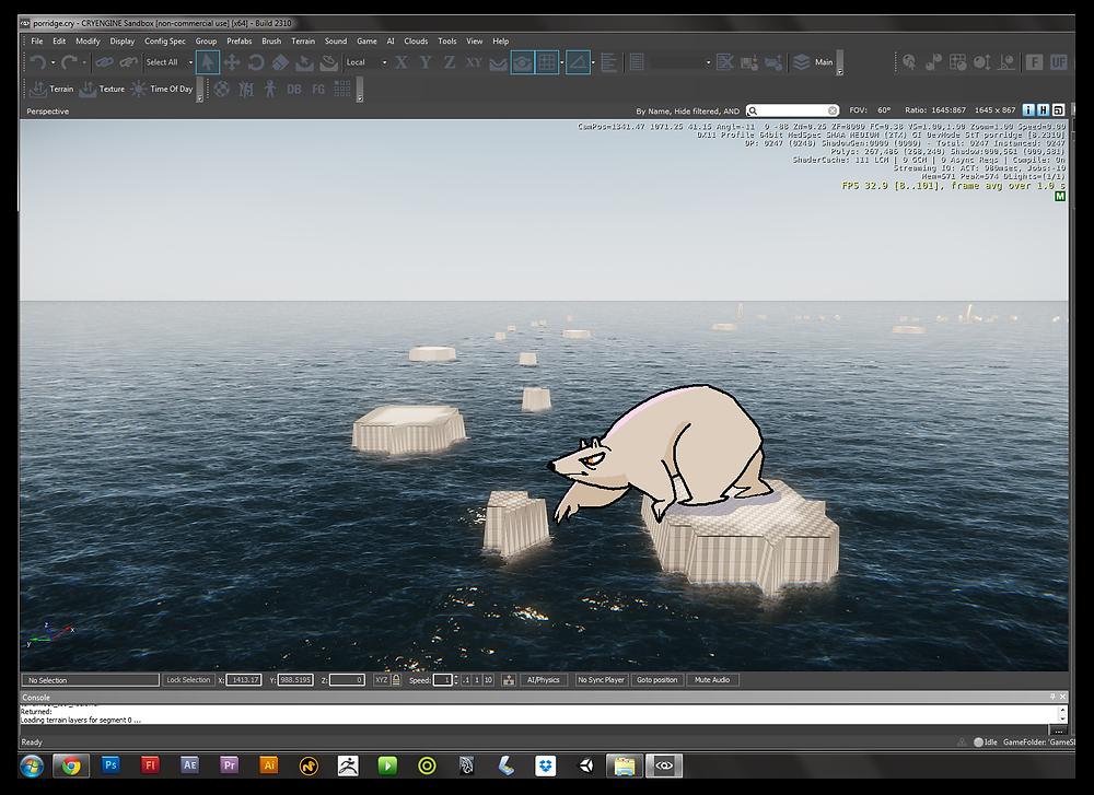 Polar bear cartoon in cryengine