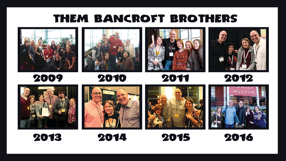 Compilation of the yearly photos with Tom & Tony Bancroft from 2009 to 2016