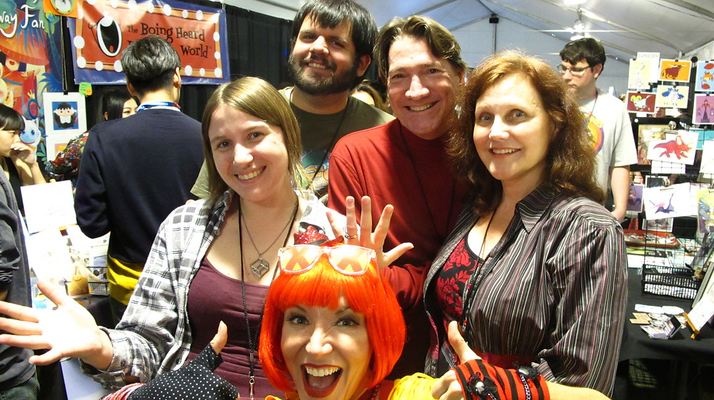 Mike Cedeo, Kathleen Quaife and the CTN Fairy drop by B58 at CTNX 2015