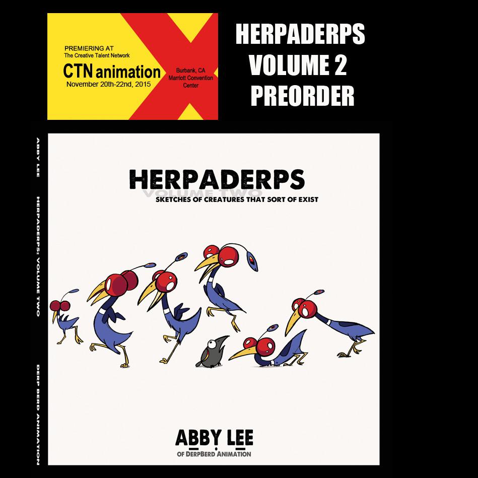 Herpaderps Volume 2 animal art book
