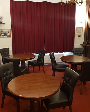 Some tables in the Private Member's bar