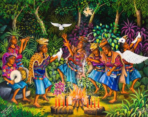 Ceremonial Dance for Women's Rights / Danza ceremonial por los derechos de la mujer