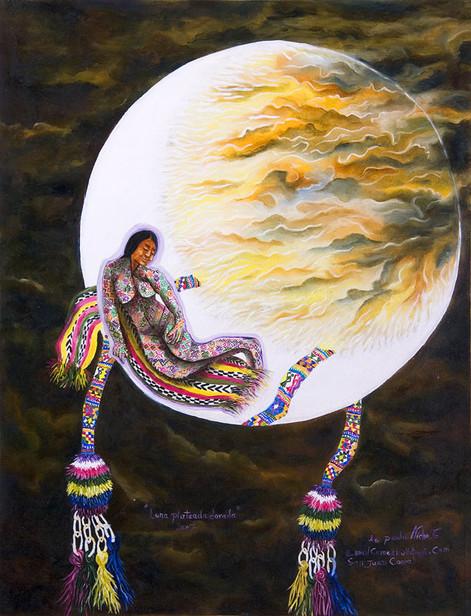Moon of Silver and Gold / Luna plateada dorada