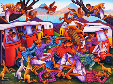 Tuctuc Drivers Fighting for a Passenger