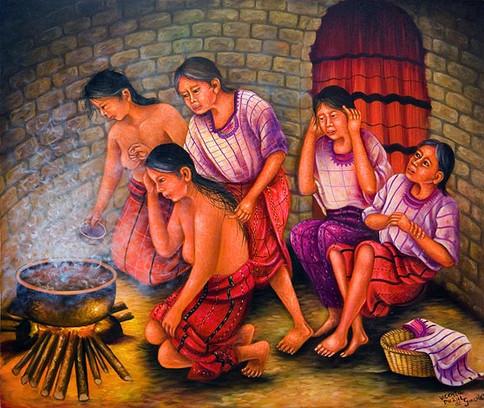 Women's Steam Bath / Mujeres en la cabaña de sudar