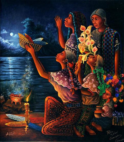 Grandmother Moon and the Women / La Abuela Luna y las mujeres / Atiit Ixchel, Luu' Ra'pa'eel