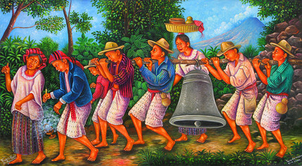 Carrying the Church Bell Over the Mountain to San Pedro