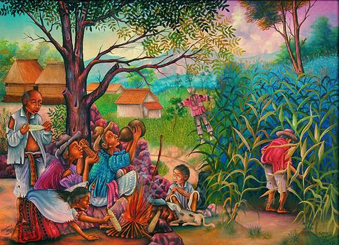 Men of Corn / Hombres de maíz