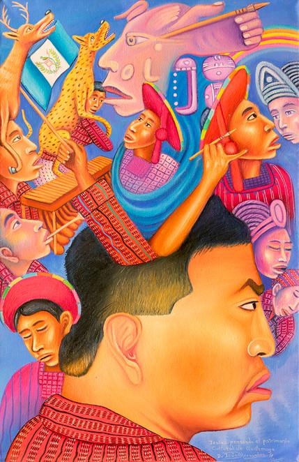 Isaías pensando del patrimonio cultural de Guatemala