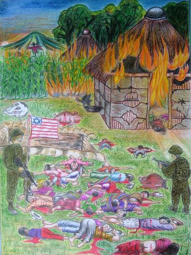 Massacre and Destruction of My Village