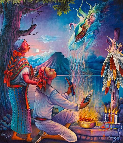 Goddess of Corn / Diosa del maiz / Nawal Ixim