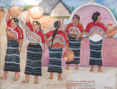 Girls Carrying Water