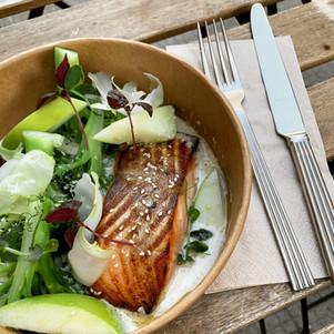 Plat du jour: saumon laqué et brocolis