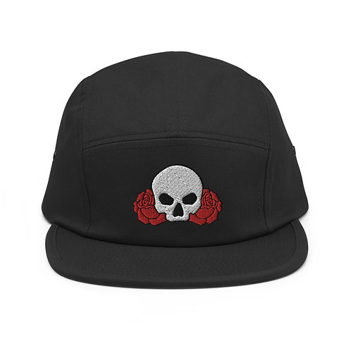 Skull Between Two Roses  - Camper Style Cap
