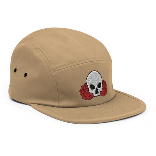 Skull Between Two Roses Camper Fit Cap