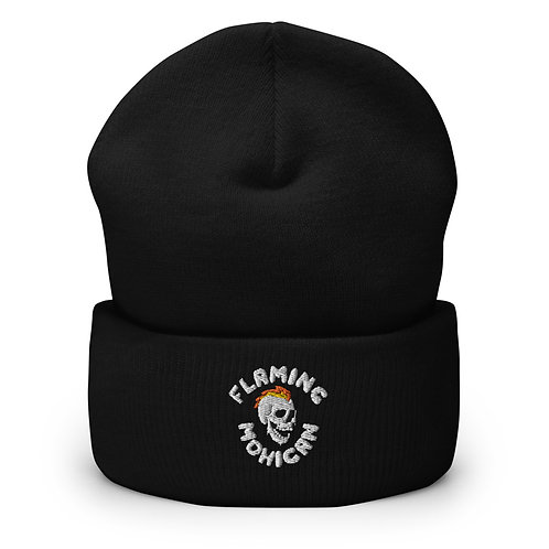 Flaming Mohican - Embroidered Beanie