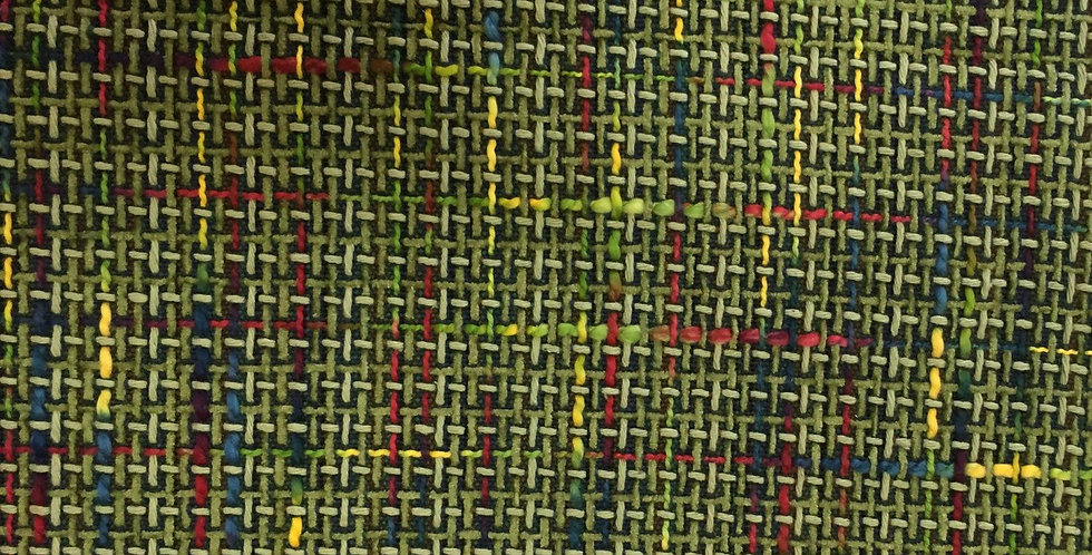 Lime Green Multicolored Woven