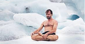 Wim Hof sitting in the cold