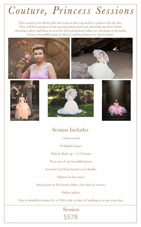 couture princess session
