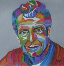 John Noble psychedelic portrait