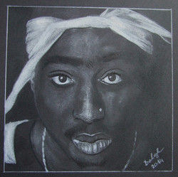 2Pac portrait