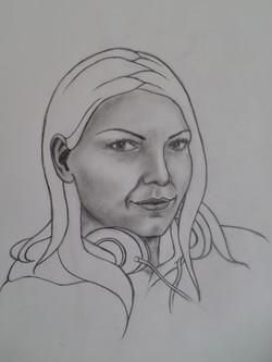 Self-portrait in progress