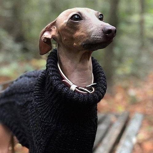 Hand Knitted Pullover / Dark Grey
