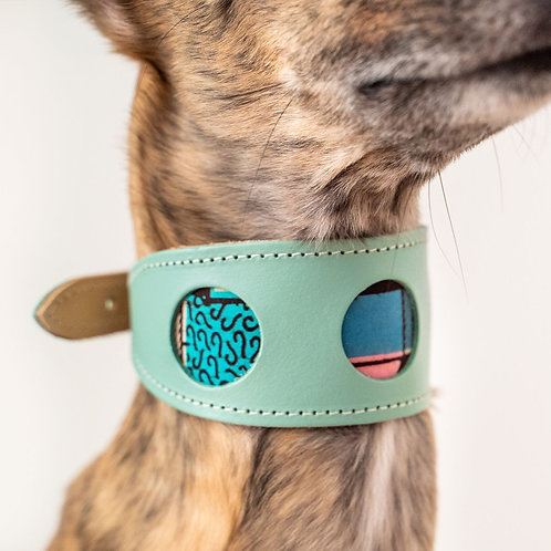 Leather Collar / Turquoise