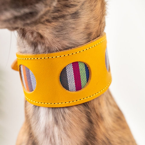 Leather Collar / Yellow