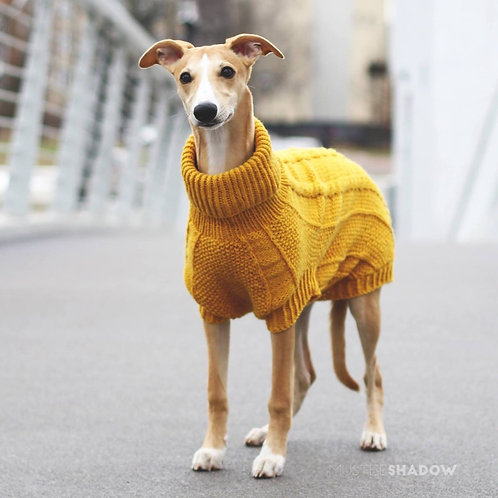 Hand Knitted Pullover / Yellow