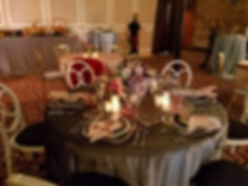 Formal banquet table
