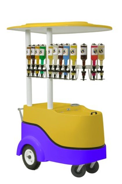 401PC Ice Shaver Push Cart