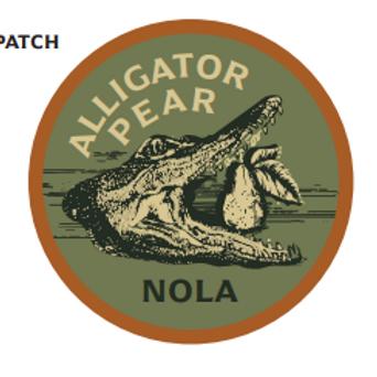 Alligator Pear NOLA Patch