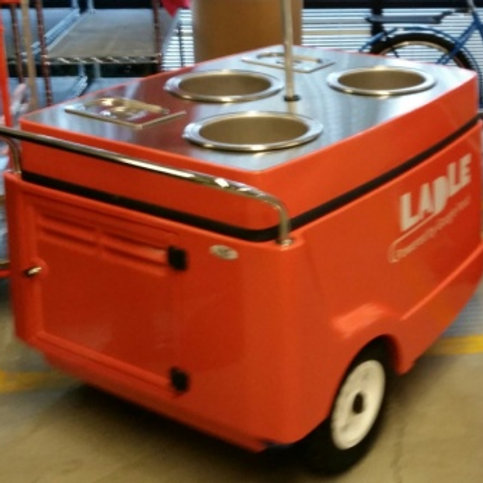536PC Soup Cart with 3 electric Soup Wells