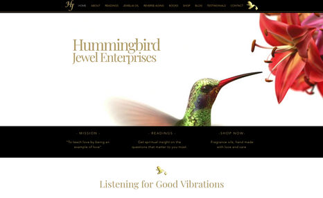Hummingbird Jewel Enterprises Website for psychic readings, fragrant oils, books...