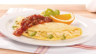 Savory Breakfast Omelette with Avocado and Cheese