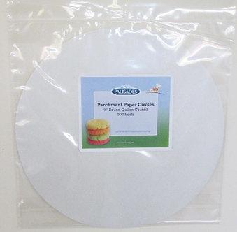 """48 9"""" Circle Parchment Sheets"""