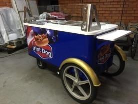 Paletas Cart Mobile Food Cart Hot Dog Bicycle Unique Vending Cart