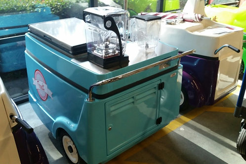 531PC Smoothie push cart with Freezers and Blender