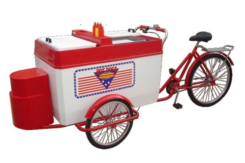 205TRP Hot Dog Tricycle Cart (Propane)