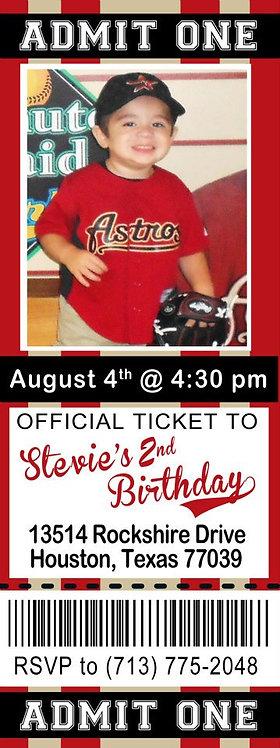 Basball Ticket Invitation