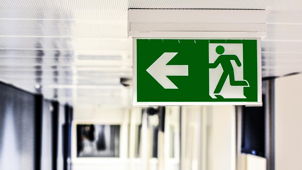 Imagem de um saída de emergência