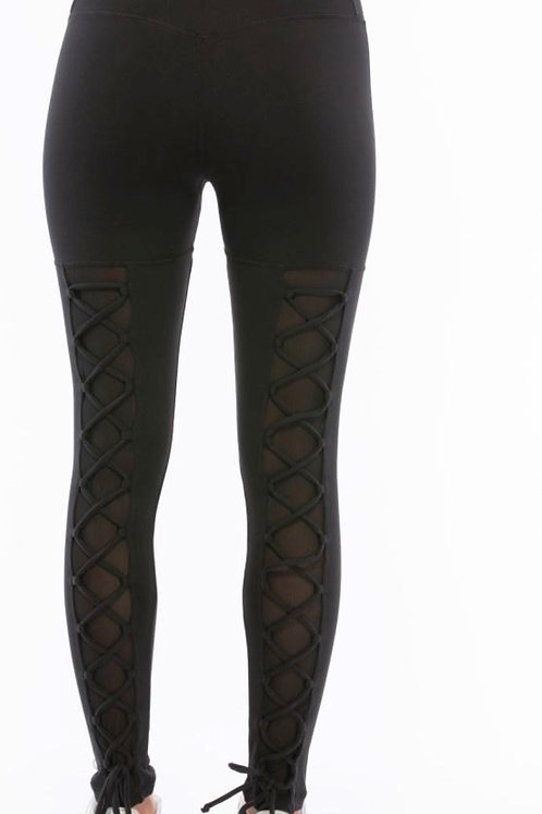 Moulin Rouge Lace-Up Legging