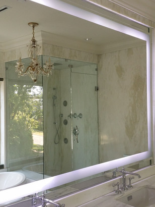 """Polish mirror with 4"""" frosted"""