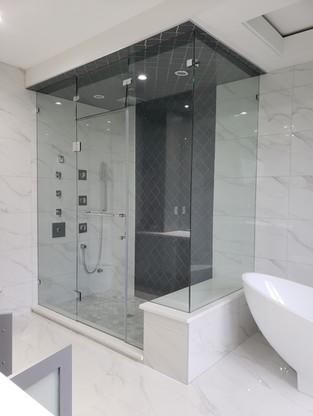 glass to glass hing shower door