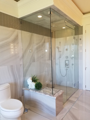 steam shower with seat