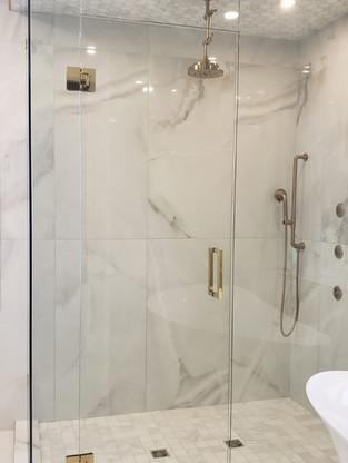 Gold Shower Door Hardware