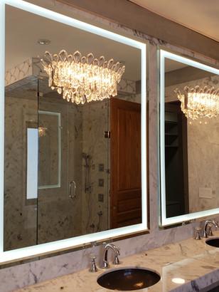 Beveled Mirror With Led Light